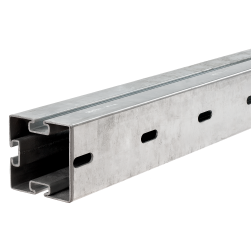 MPT-Support profile Q100 with 3 slots hot-dip galvanised