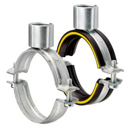 Single bossed clamps with connecting socket