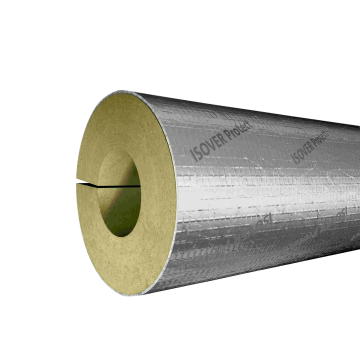 Mineral wool pipe jackets with aluminium facing
